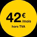 42 €/mois hors tva