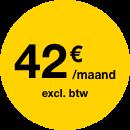 42 €/maand excl. bvt
