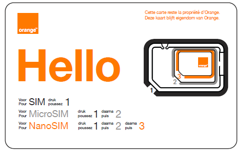Multi format SIM Orange